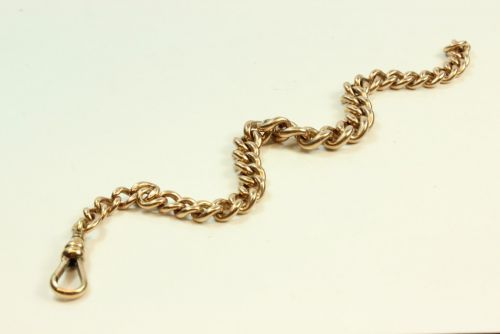 9ct Rose Gold Graduated Curb Link Bracelet