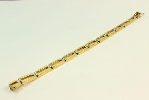 18ct Gold Ladies 2 Bar Bracelet.