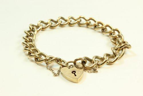 9ct Gold Solid Curb Link Bracelet