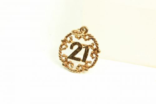 9ct Gold Solid 21 Disc Charm