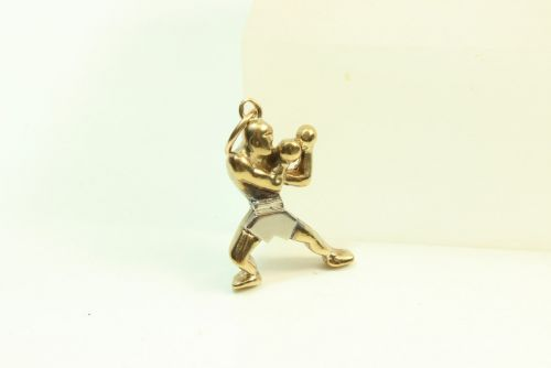 9ct Gold Solid Charm- Boxer
