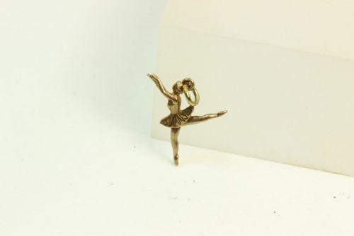 9ct Gold Charm- Ballerina