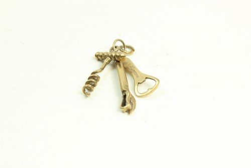 9ct Gold Charm-Corkscrew Set