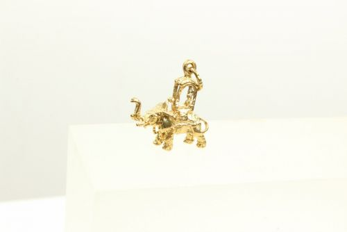9ct Gold Solid Charm-Elephant