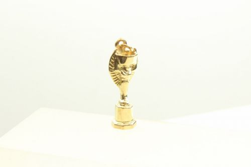 9ct Gold Solid Charm-World Cup
