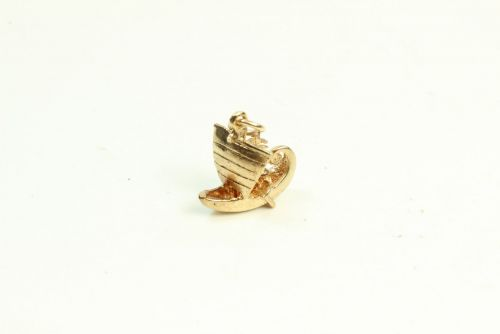 9ct Gold Solid Charm-Boat