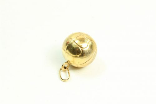 9ct Gold Hollow Charm- Football