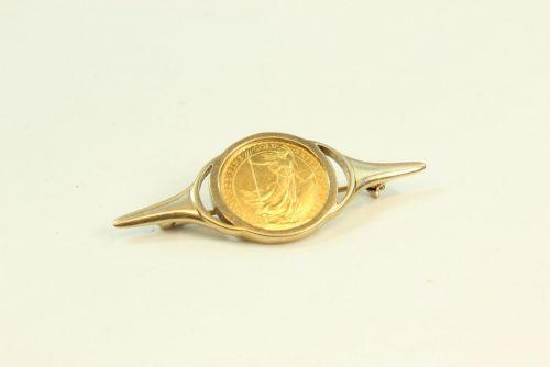 1996 1/10 Britannia Coin Set Brooch