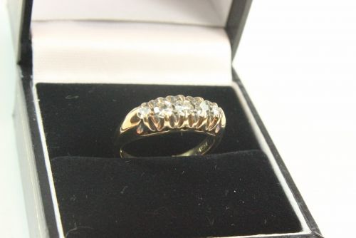 18ct Gold Diamond 5 Stone Ring.