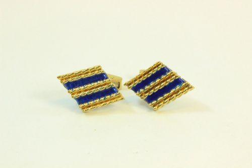 18ct Gold Fancy Cuff-Links