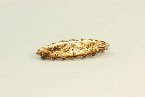 9ct Gold Antique Fancy Brooch