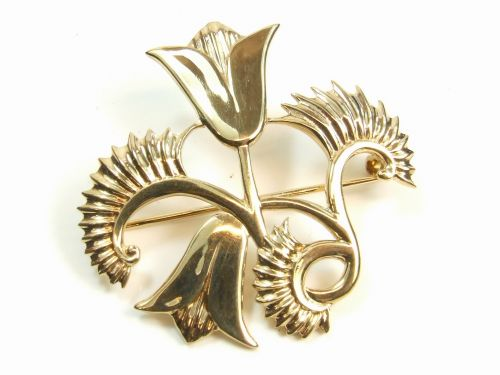 Geoffrey G. Bellamy 9ct Gold Thistle Brooch