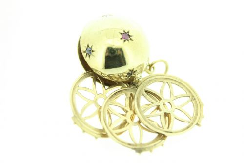 9ct Gold Stone Set Ball