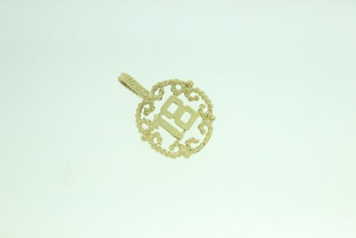 9ct Gold Solid 18 Pendant