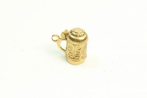 9ct Gold Charm- Tankard with Lid