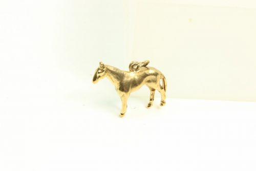 9ct Gold Solid Charm- Horse.