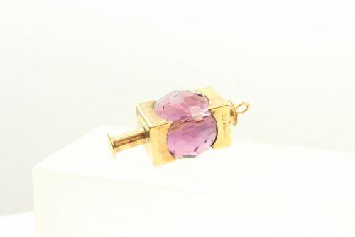 9ct Gold Stone Set Charm- Lantern