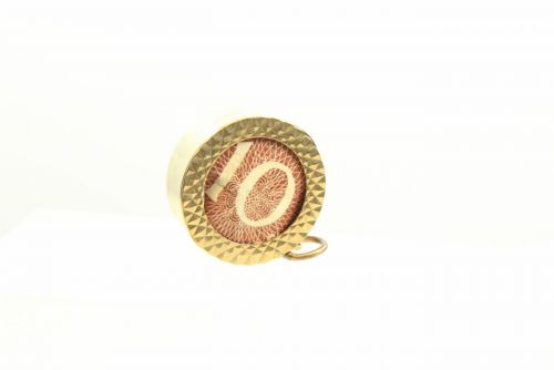 9ct Gold Note Charm- 10 Shilling