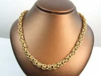 9ct Gold 24inch Byzantine Link Chain.