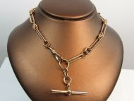 9ct Rose Gold T-Bar Necklet