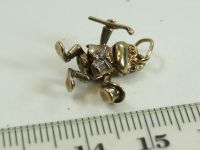9ct gold solid movable charm- Dancing Frog
