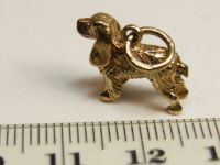 9ct Gold Solid Charm-Dog