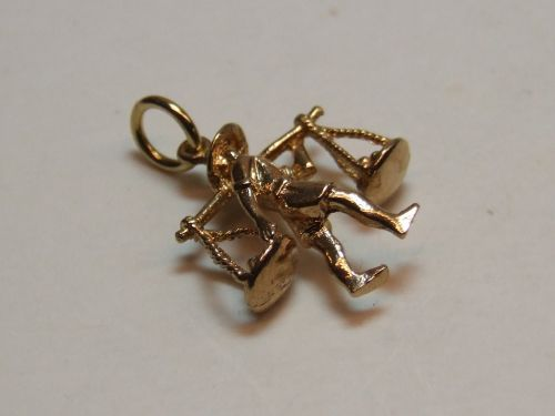9ct Gold Solid Charm- Tradesman