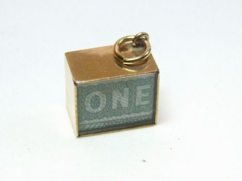 9ct Gold £1 Note Charm