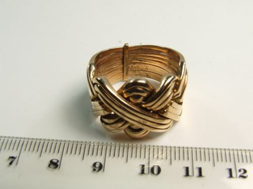 14ct Gold Gents 12 piece Puzzle Ring