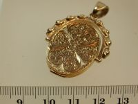 9ct Gold Swivel Locket Pendant