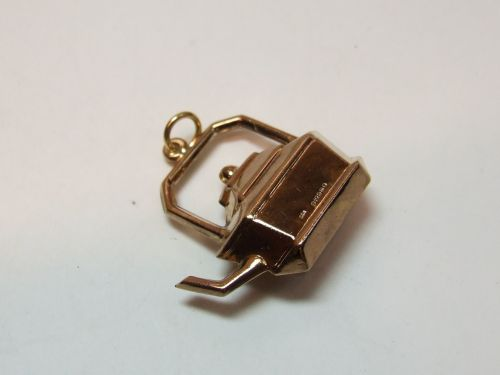 9ct Gold Hollow Charm-Kettle