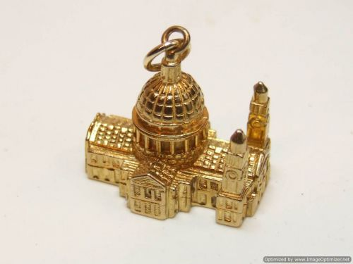 9ct Gold Solid Charm-St. Pauls