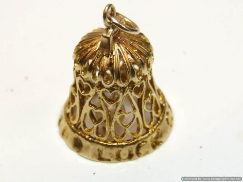9ct Gold Fancy Charm- Wedding Bell