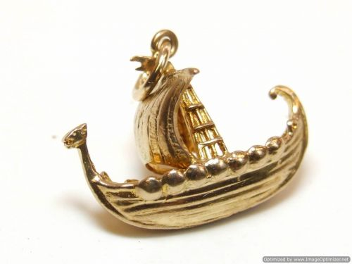 9ct Gold Solid Charm-Sailing Vessel