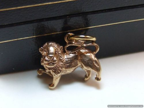 9ct Gold Solid Charm-Lion
