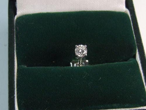9ct White Gold Single Diamond Stud