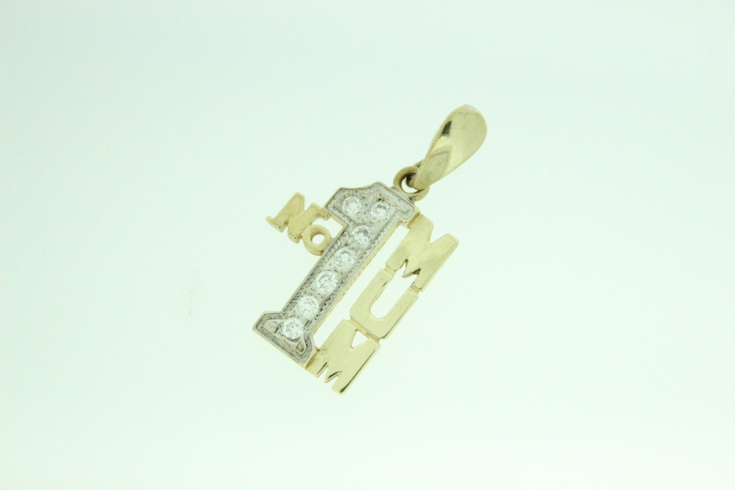 9ct gold cz stone set no1 mum pendant click to enlarge aloadofball Image collections